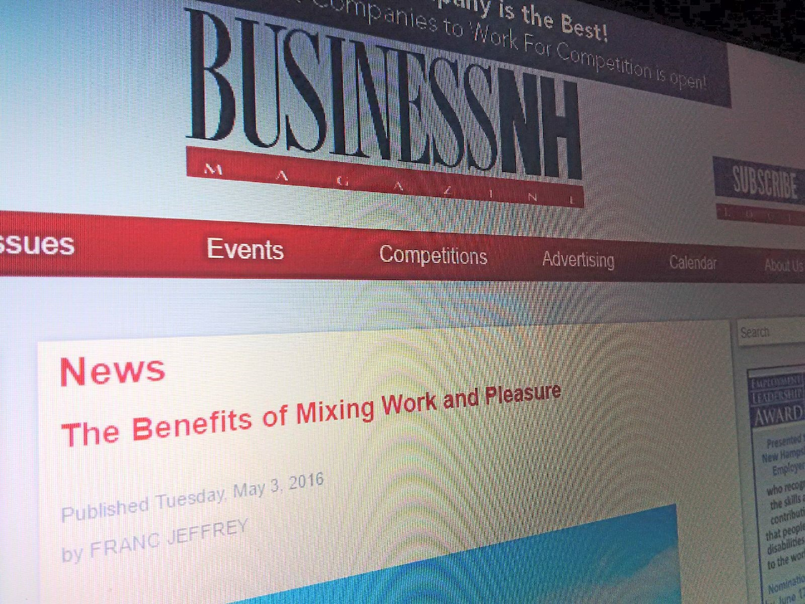 BNH - The Benefits of Mixing Work and Pleasure