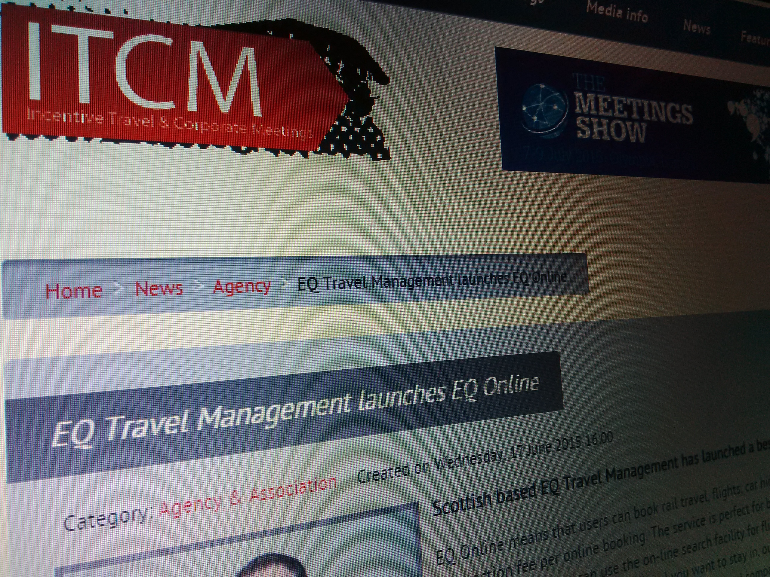 EQ Travel Management launches EQ Online