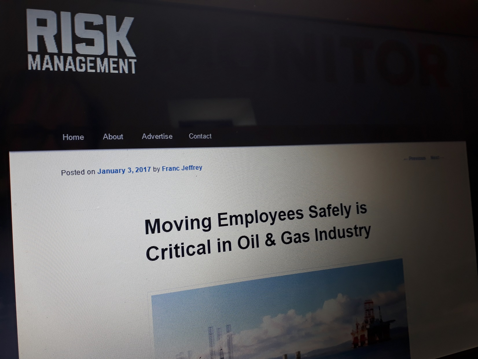 Risk Management - January 2017