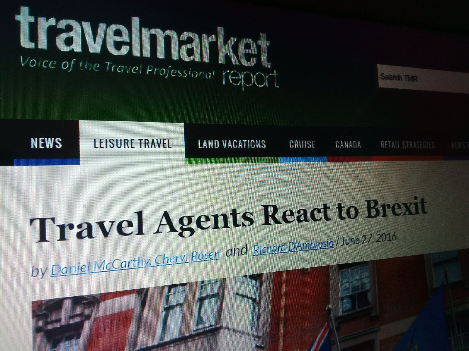 Travel Market Report - Travel Agents React to Brexit